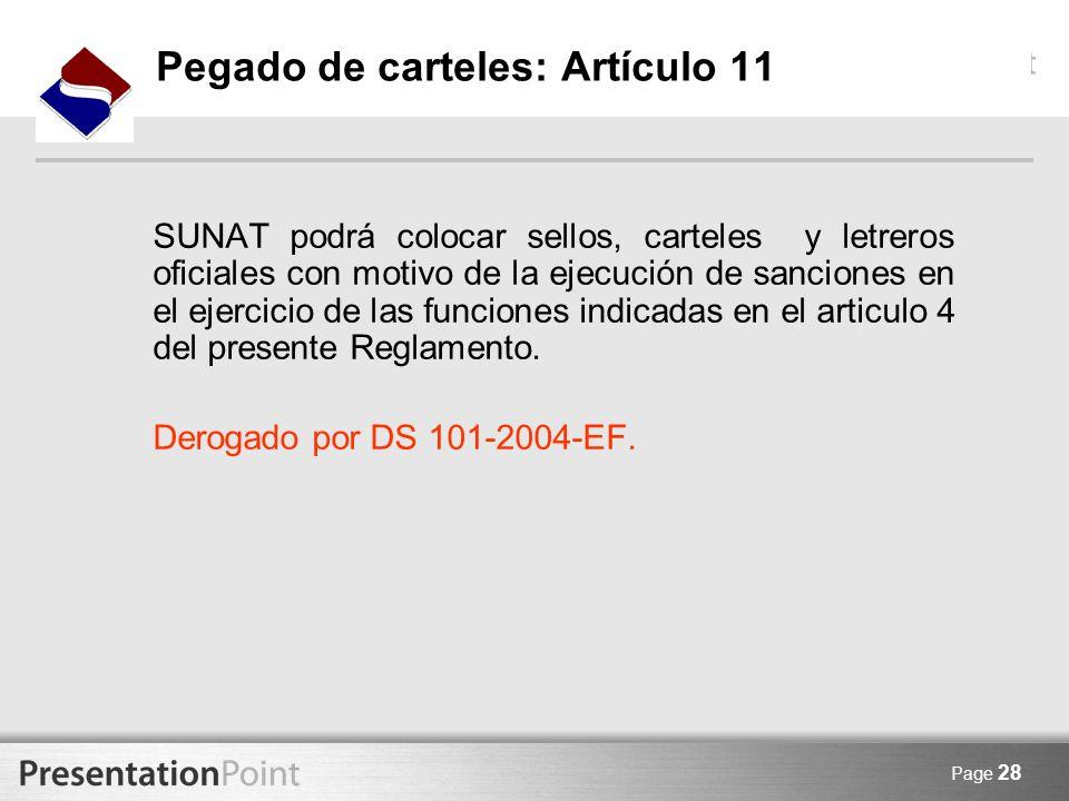 Pegado de carteles: Artículo 11
