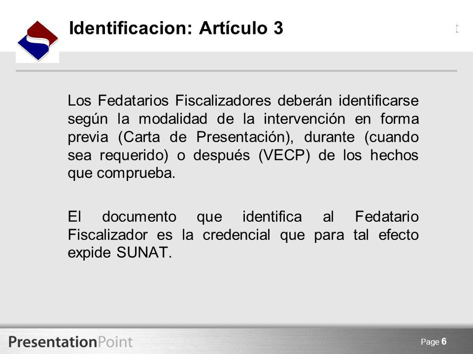 Identificacion: Artículo 3