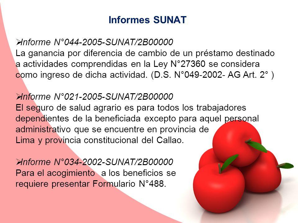 Informes SUNAT Informe N°044-2005-SUNAT/2B00000