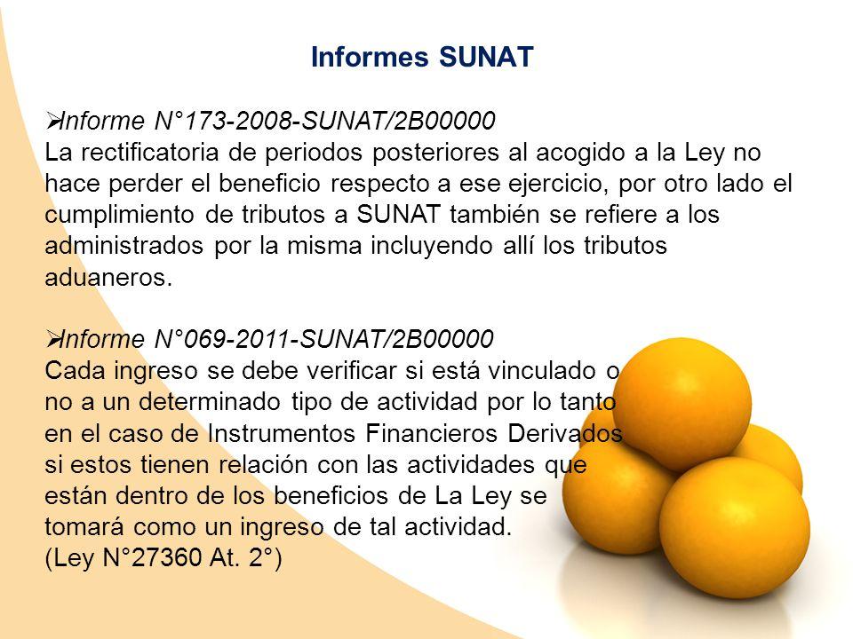 Informes SUNAT Informe N°173-2008-SUNAT/2B00000