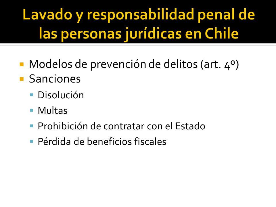 Lavado y responsabilidad penal de las personas jurídicas en Chile