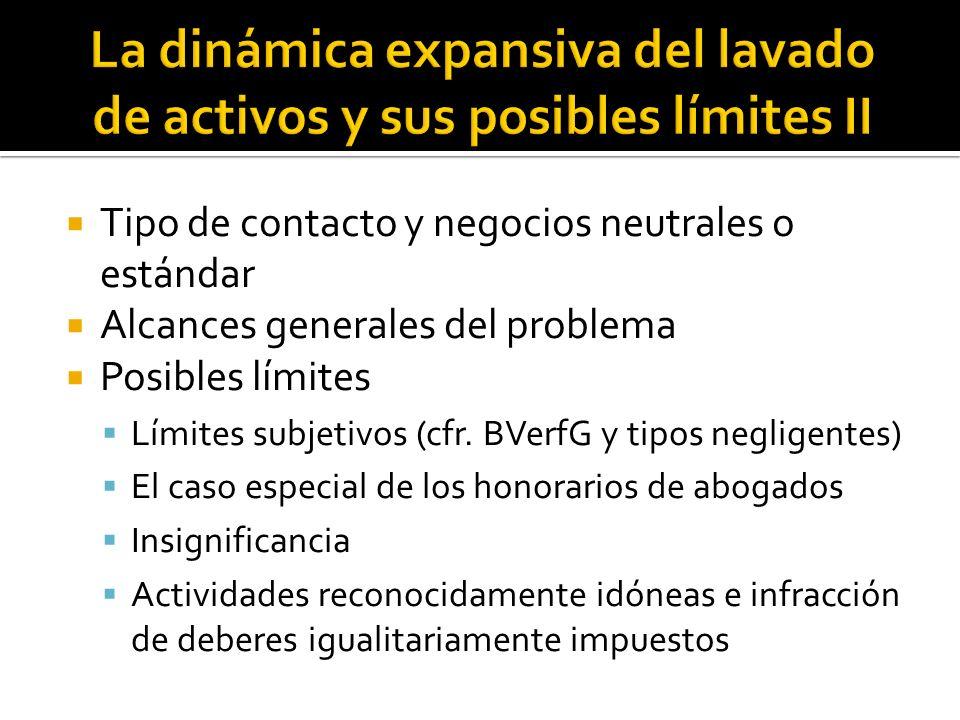 La dinámica expansiva del lavado de activos y sus posibles límites II