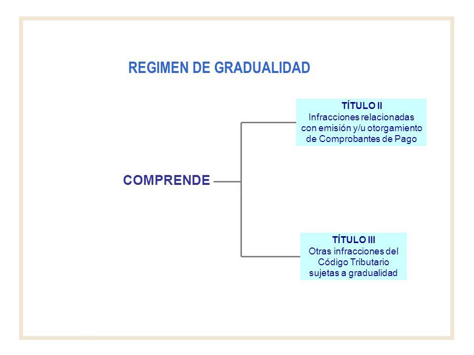 REGIMEN DE GRADUALIDAD