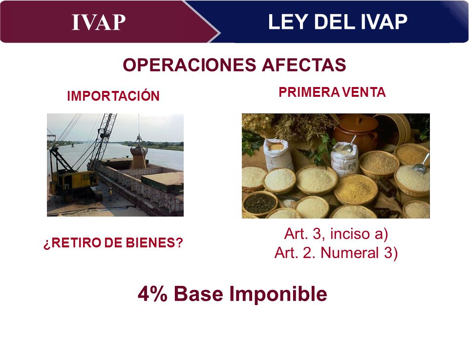 LEY DEL IVAP 4% Base Imponible