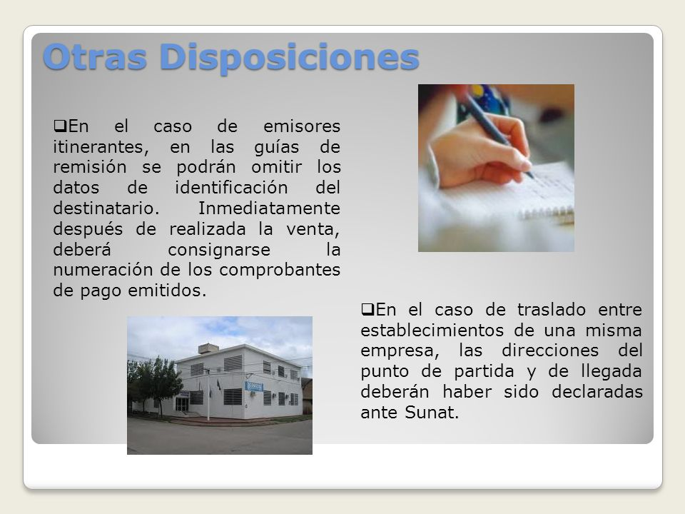 Otras Disposiciones