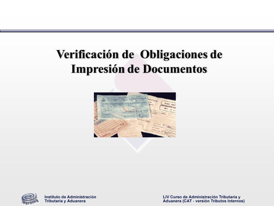 Verificación de Obligaciones de Impresión de Documentos