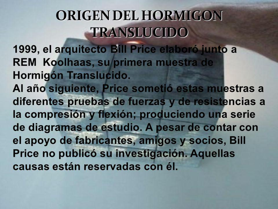ORIGEN DEL HORMIGON TRANSLUCIDO