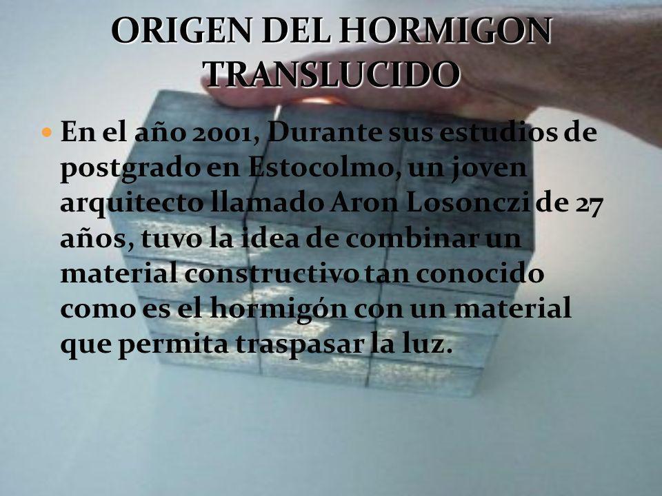 origen del hormigon translucido - Hormigon Traslucido