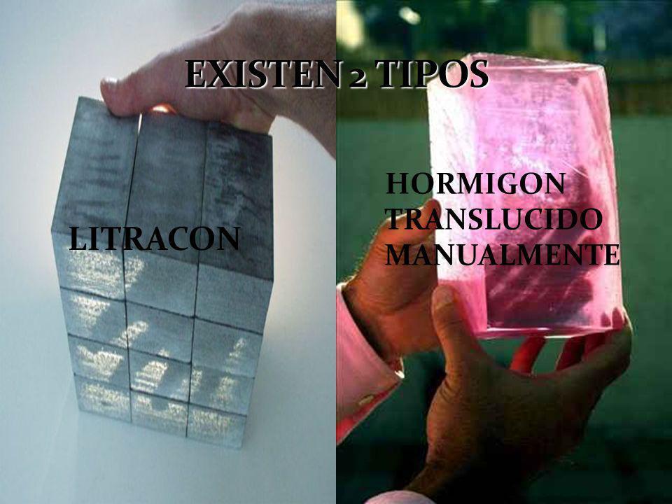 EXISTEN 2 TIPOS HORMIGON TRANSLUCIDO MANUALMENTE LITRACON