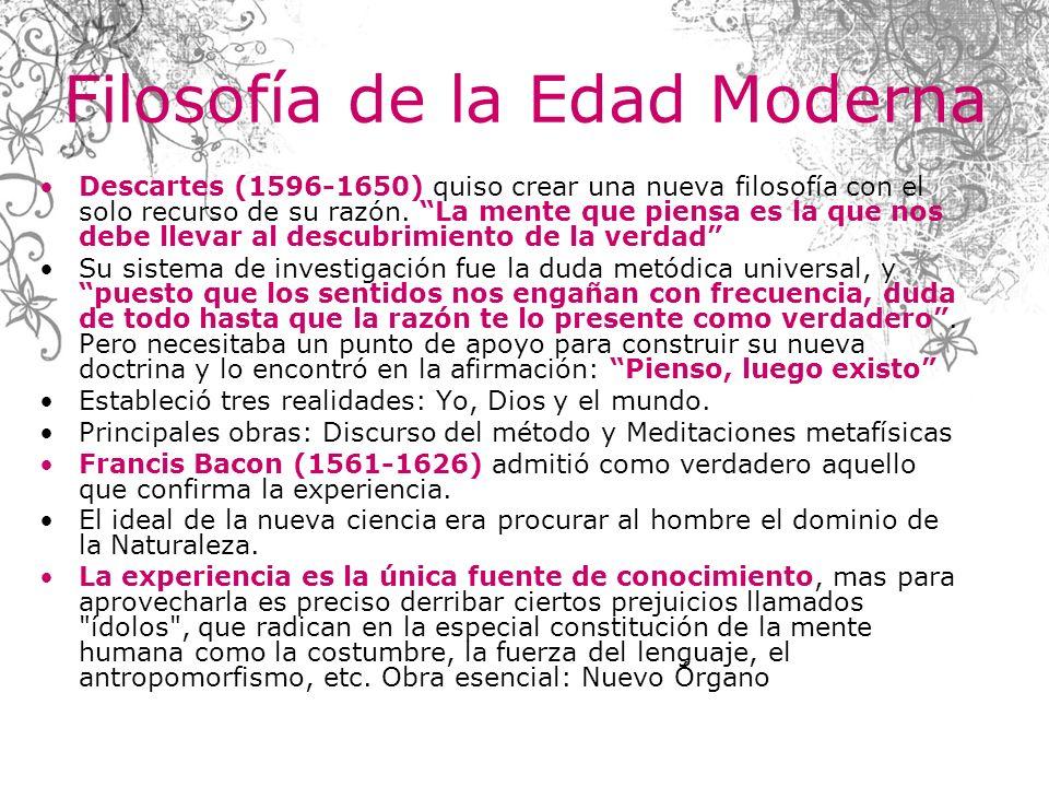 Filosofía de la Edad Moderna