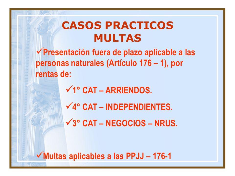 CASOS PRACTICOS MULTAS