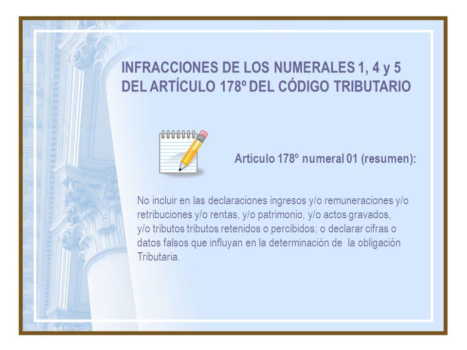 Artículo 178º numeral 01 (resumen):