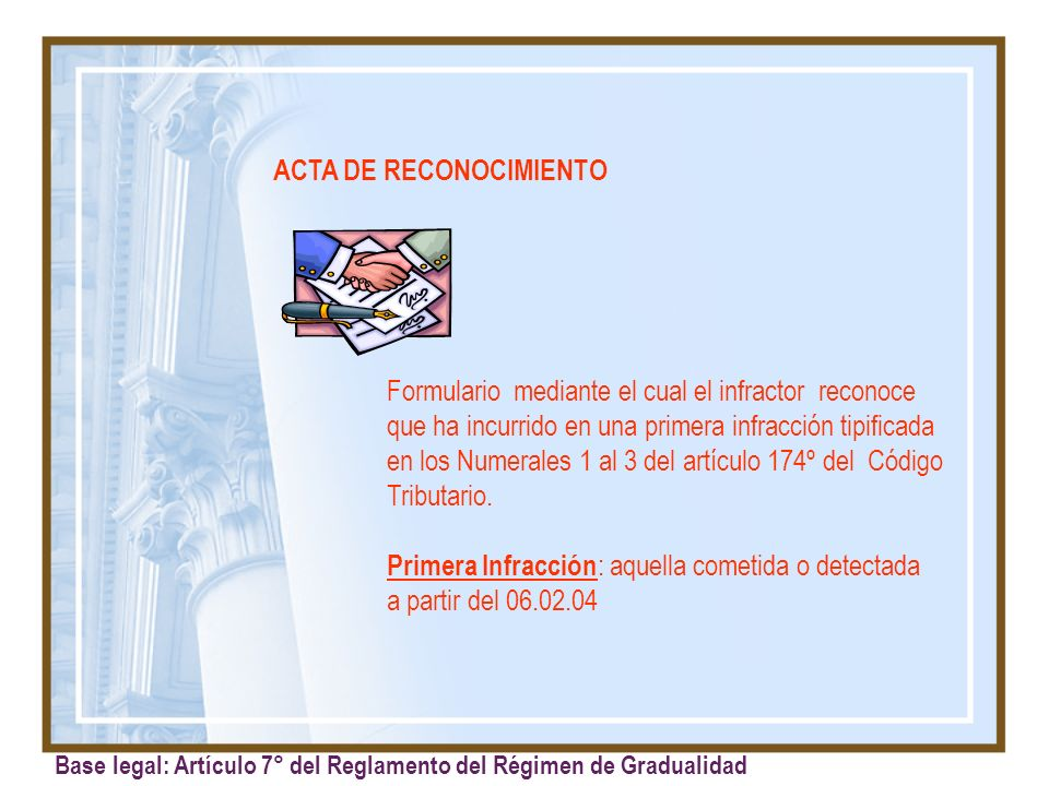 ACTA DE RECONOCIMIENTO