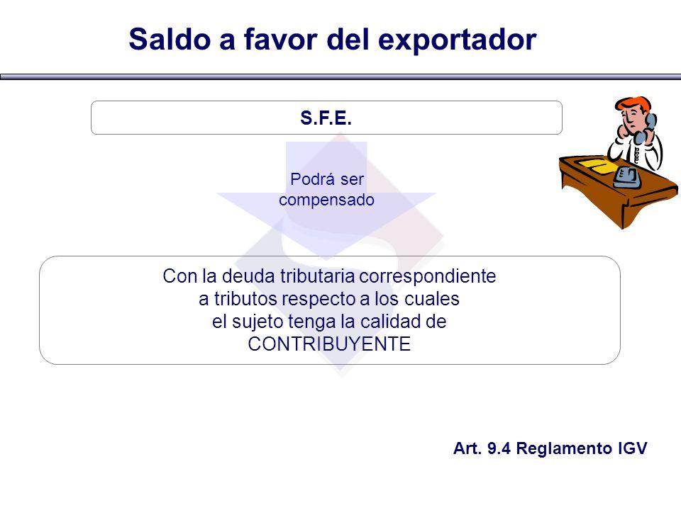 Saldo a favor del exportador
