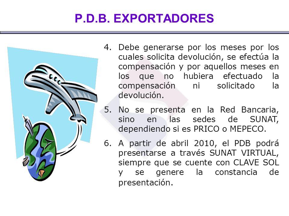 P.D.B. EXPORTADORES