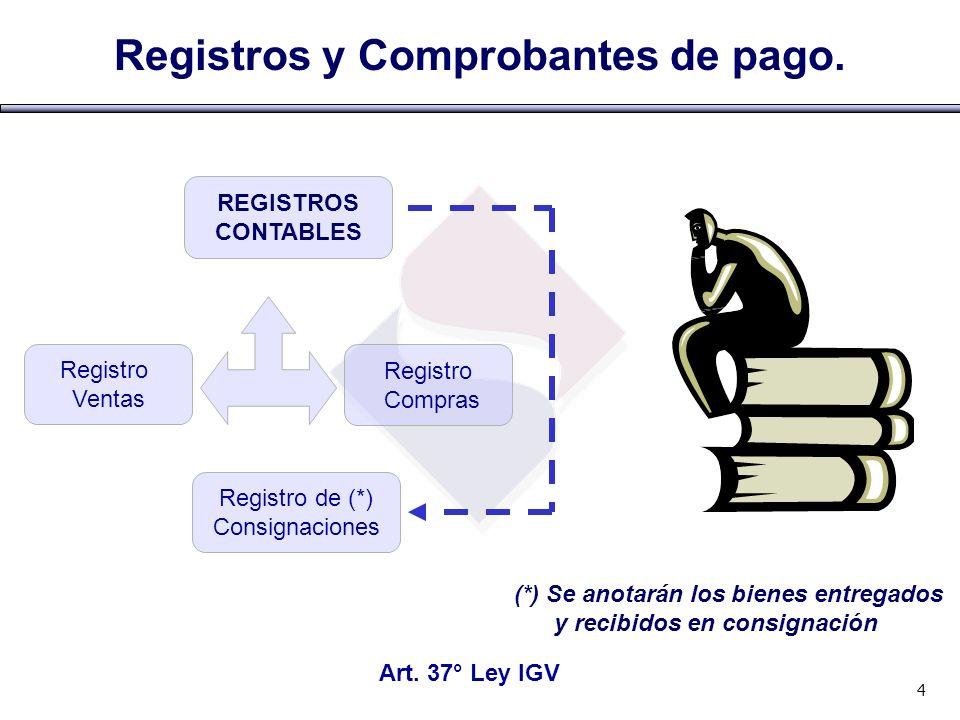 Registros y Comprobantes de pago.