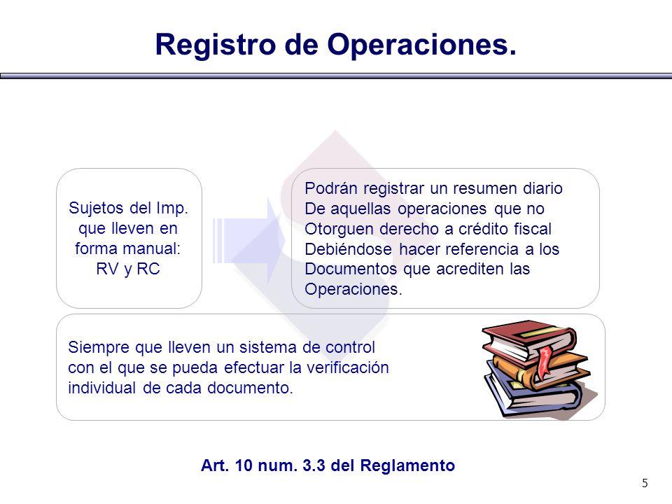 Registro de Operaciones.