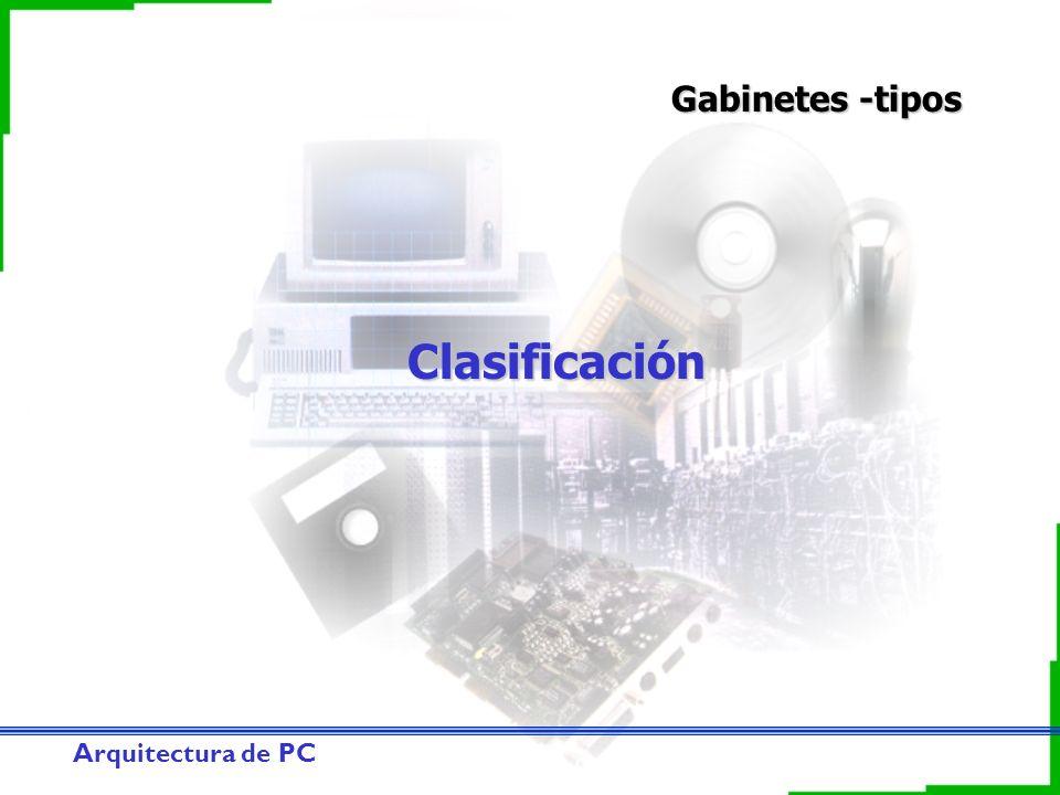 Gabinetes -tipos Clasificación