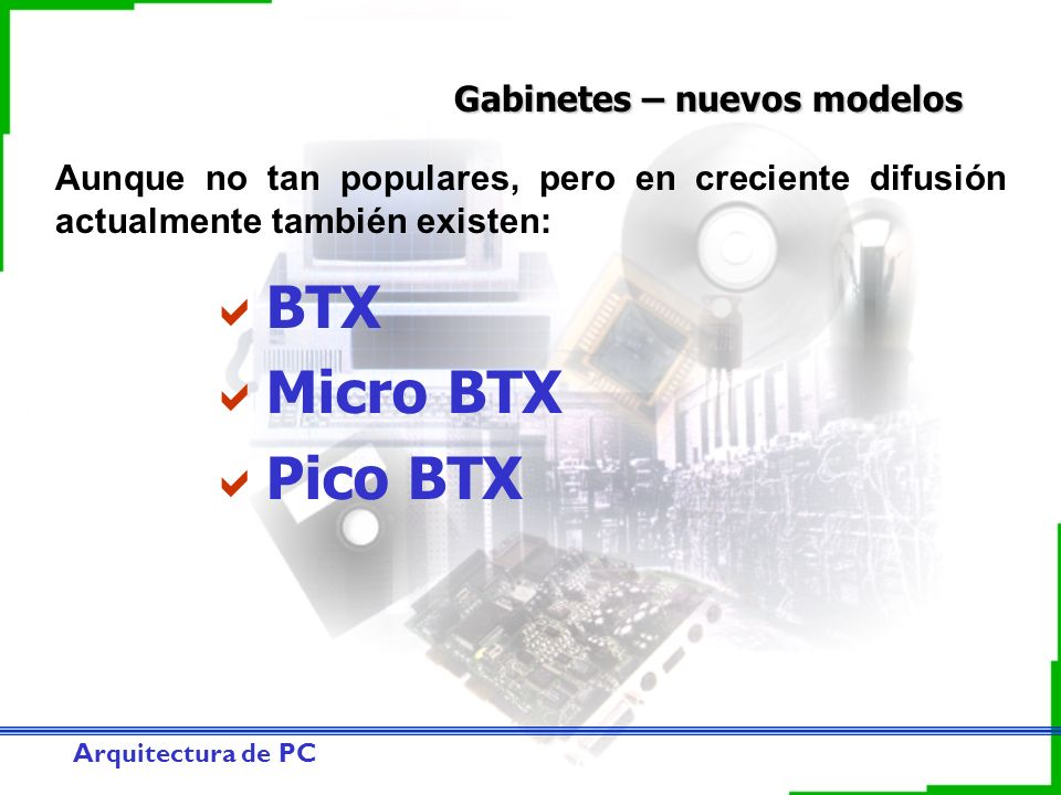 BTX Micro BTX Pico BTX Gabinetes – nuevos modelos