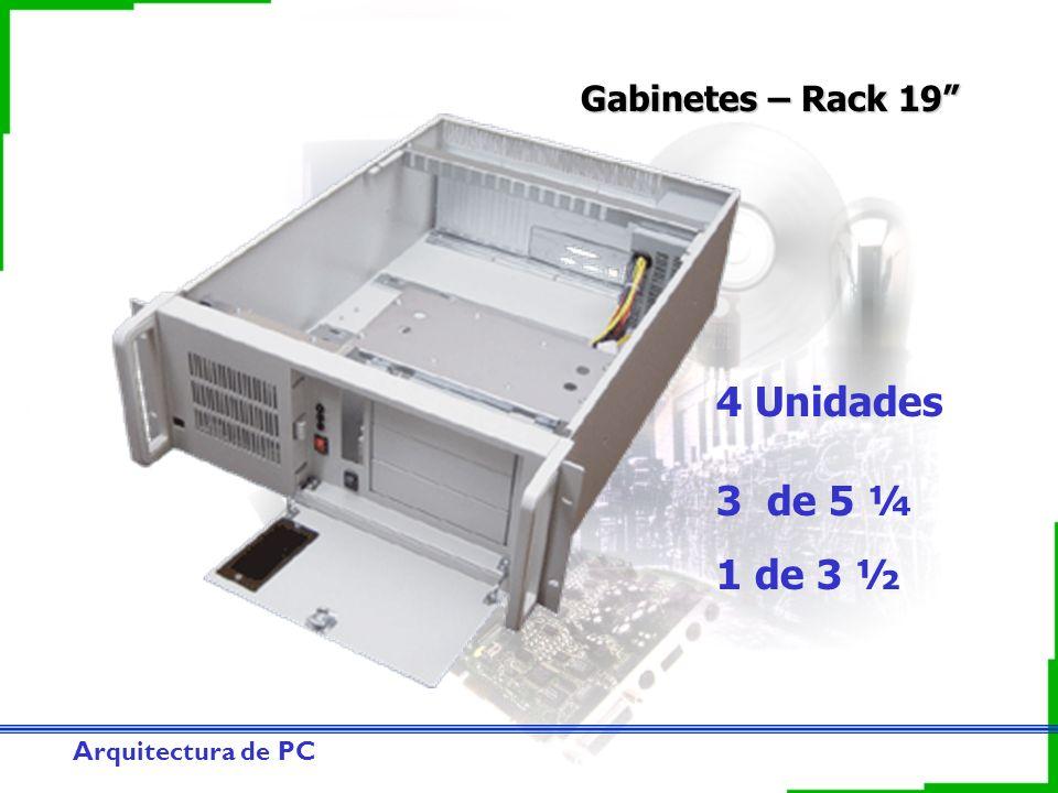Gabinetes – Rack 19 4 Unidades 3 de 5 ¼ 1 de 3 ½