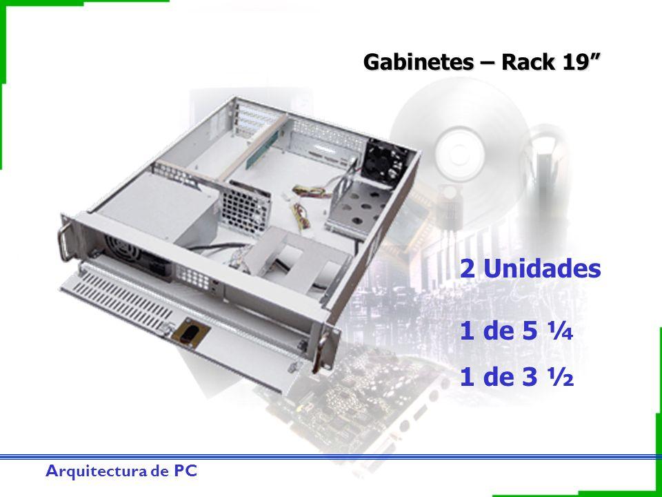 Gabinetes – Rack 19 2 Unidades 1 de 5 ¼ 1 de 3 ½