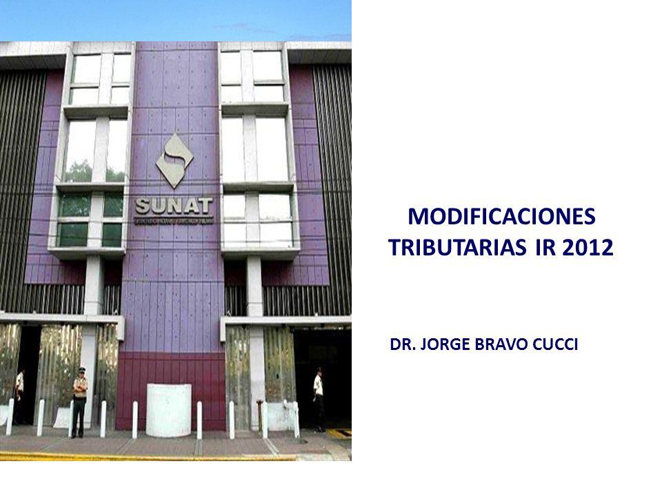 MODIFICACIONES TRIBUTARIAS IR 2012