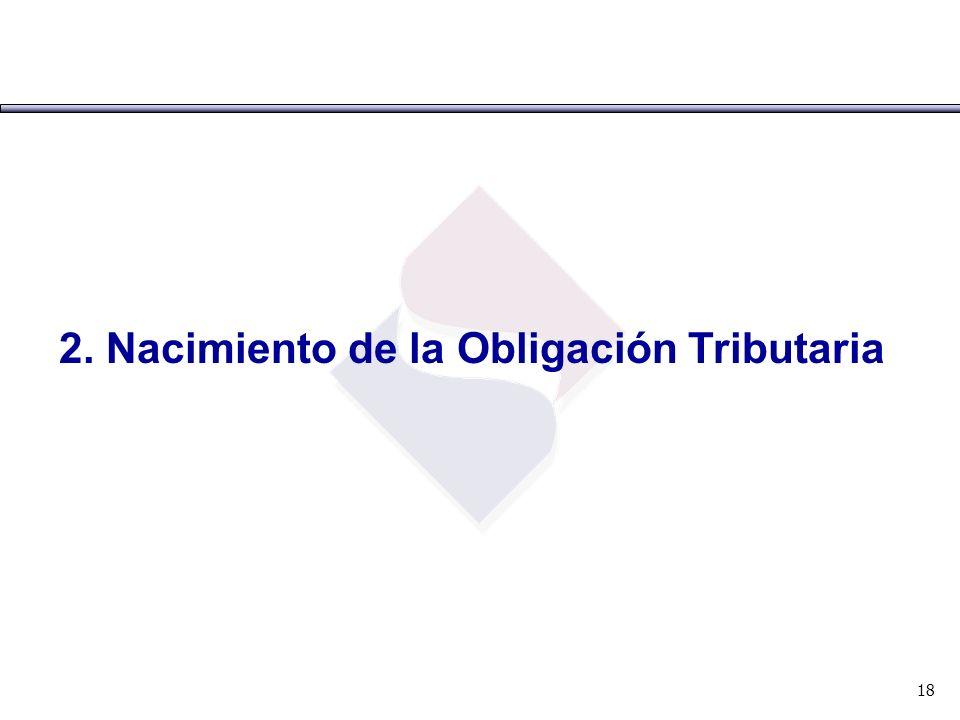 2. Nacimiento de la Obligación Tributaria