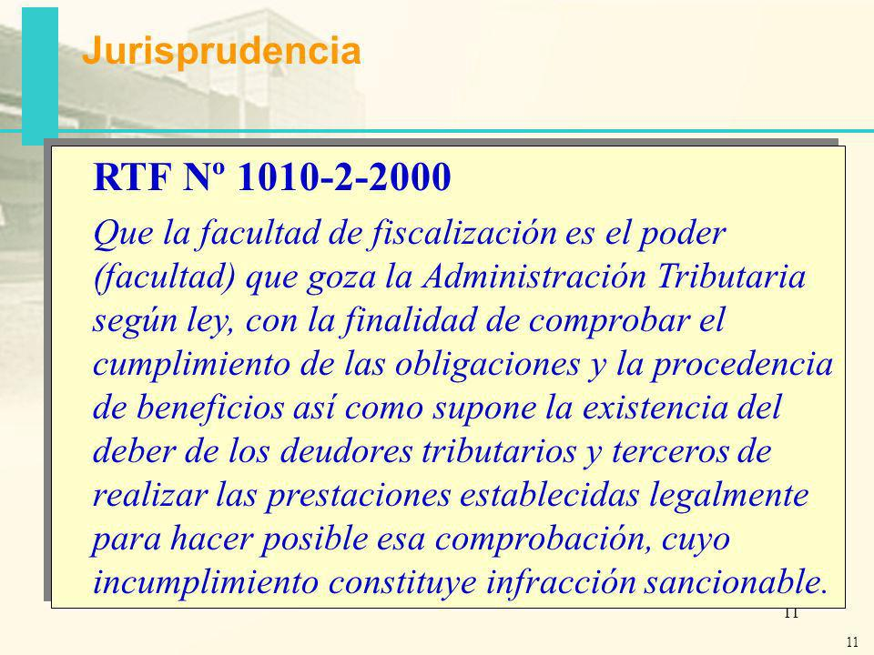Jurisprudencia RTF Nº 1010-2-2000
