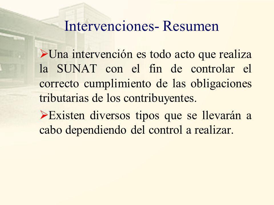 Intervenciones- Resumen
