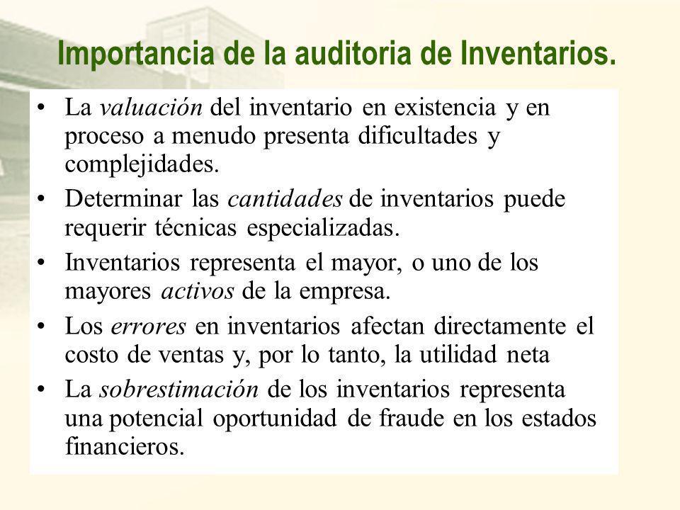 Importancia de la auditoria de Inventarios.