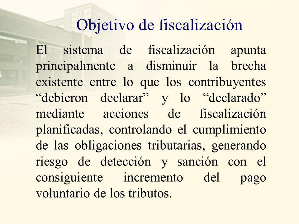 Objetivo de fiscalización