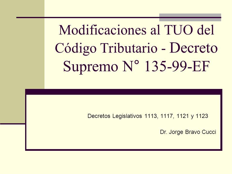 Decretos Legislativos 1113, 1117, 1121 y 1123