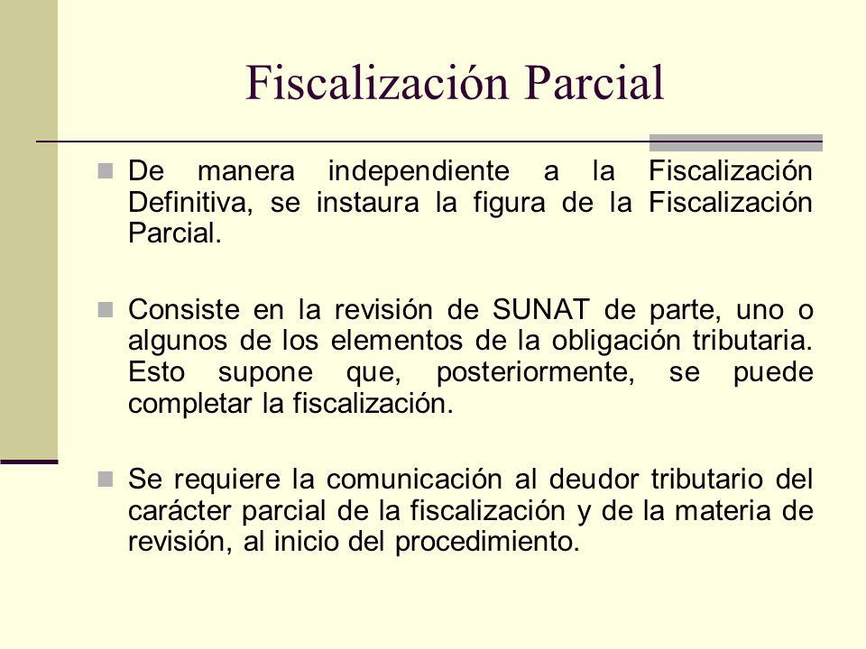 Fiscalización Parcial