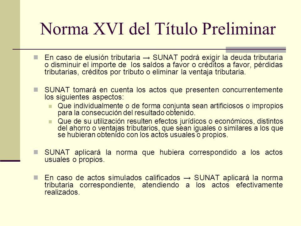 Norma XVI del Título Preliminar