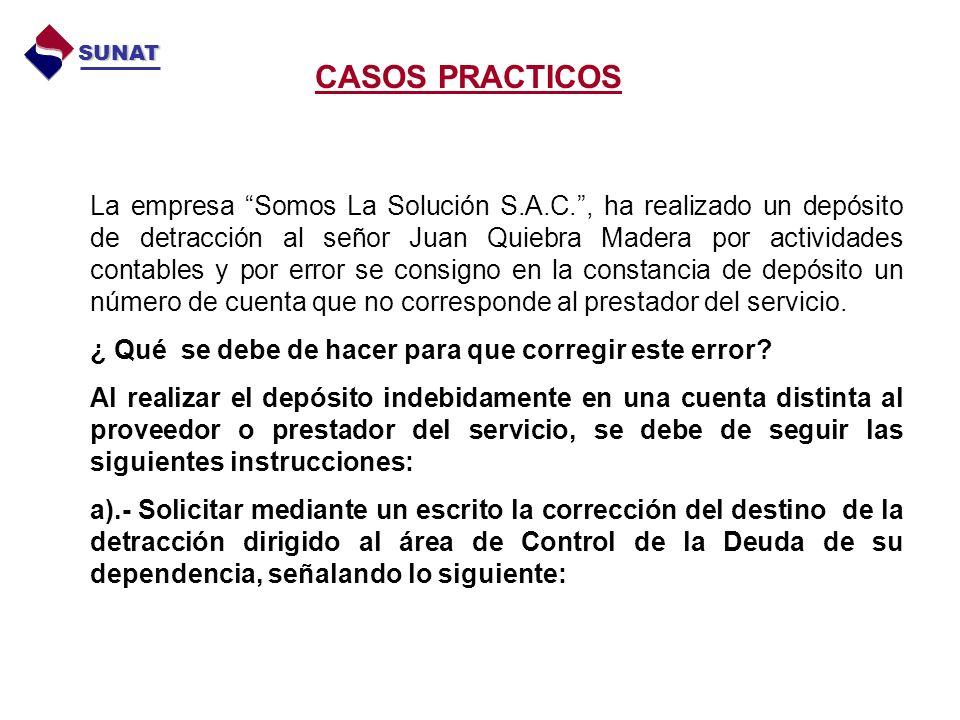 CASOS PRACTICOS SUNAT.