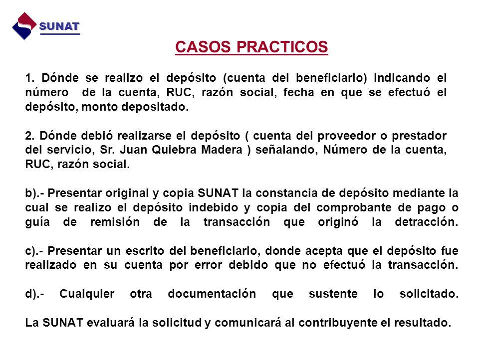 SUNAT CASOS PRACTICOS.