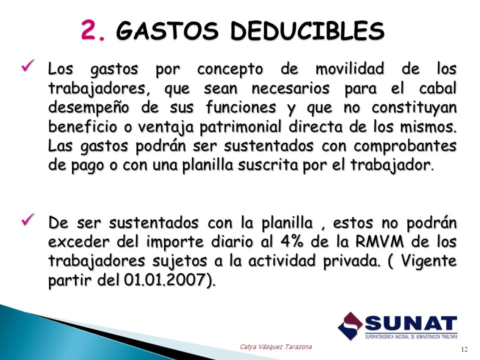 2. GASTOS DEDUCIBLES