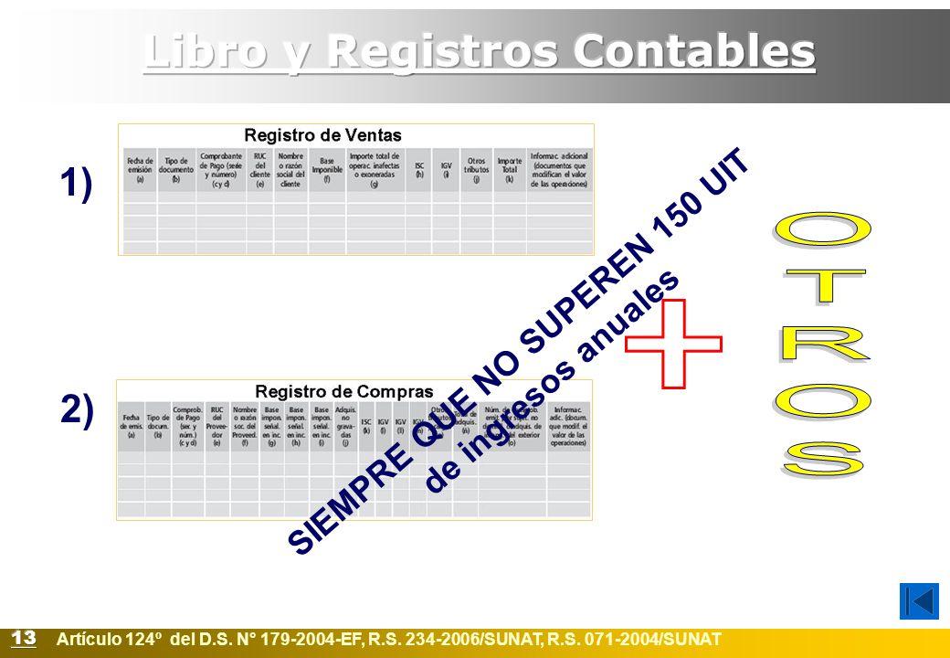 Libro y Registros Contables