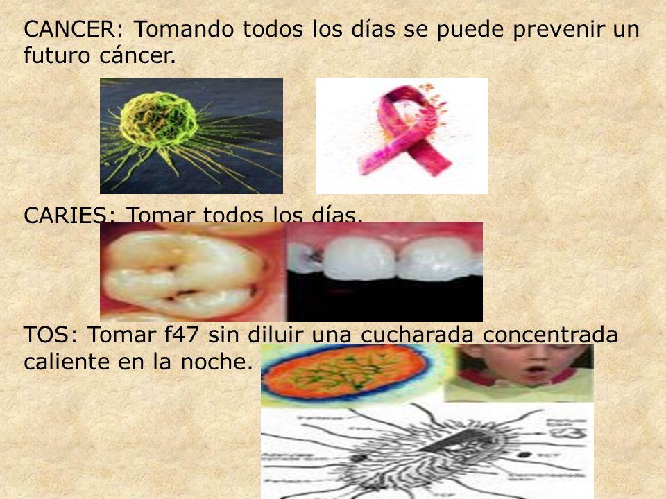 CANCER: Tomando todos los días se puede prevenir un futuro cáncer.