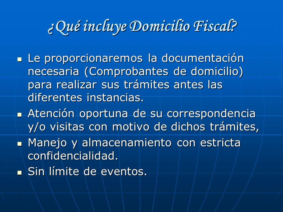 ¿Qué incluye Domicilio Fiscal