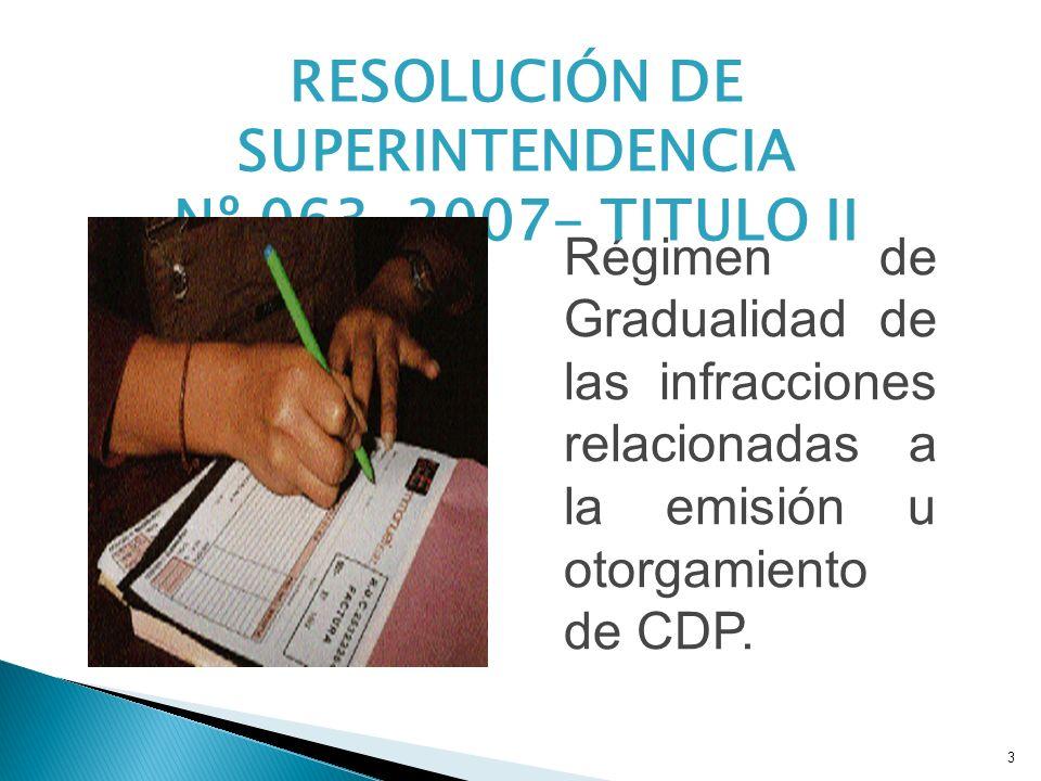 RESOLUCIÓN DE SUPERINTENDENCIA