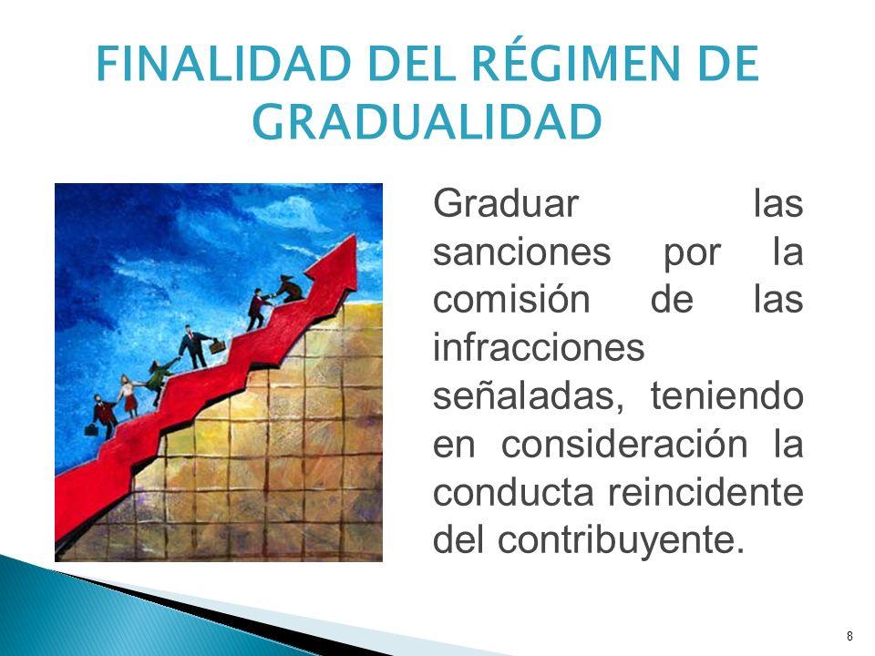 FINALIDAD DEL RÉGIMEN DE GRADUALIDAD