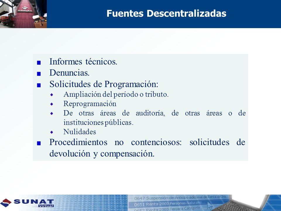 Fuentes Descentralizadas