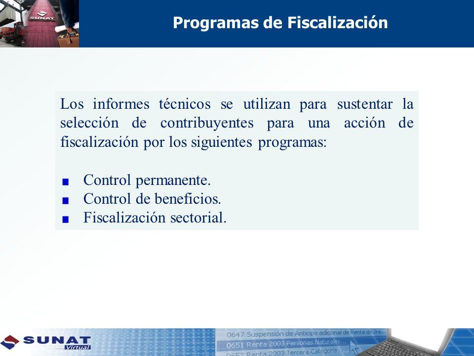 Programas de Fiscalización