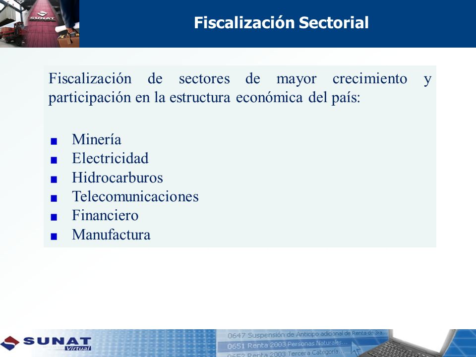 Fiscalización Sectorial