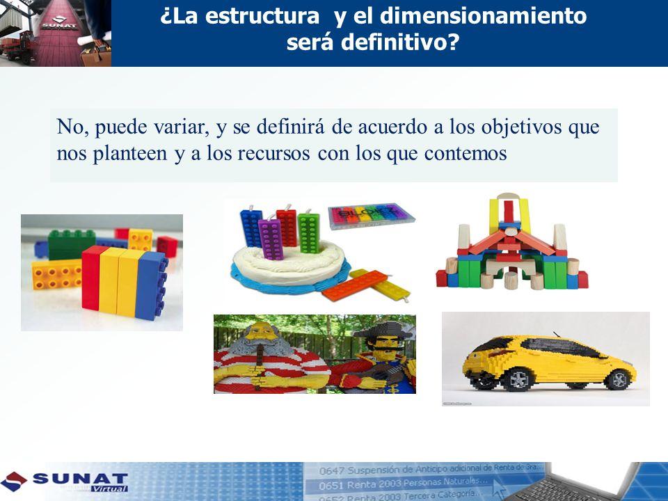 ¿La estructura y el dimensionamiento será definitivo