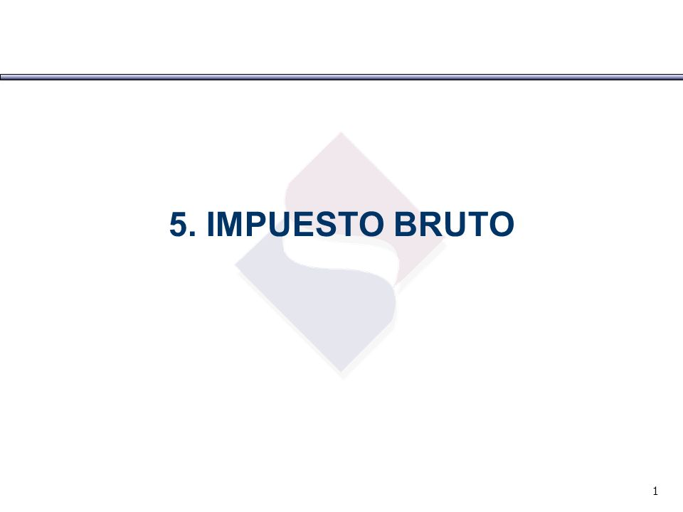 5. IMPUESTO BRUTO 1