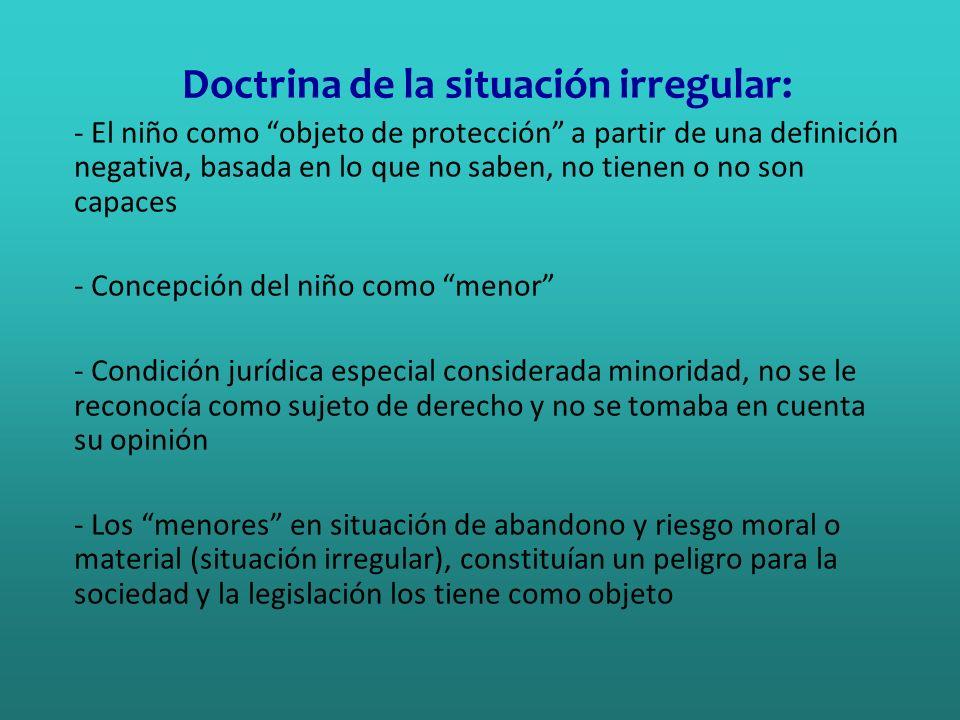 Doctrina de la situación irregular: