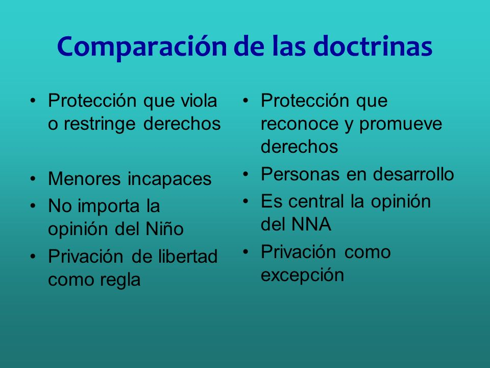 Comparación de las doctrinas