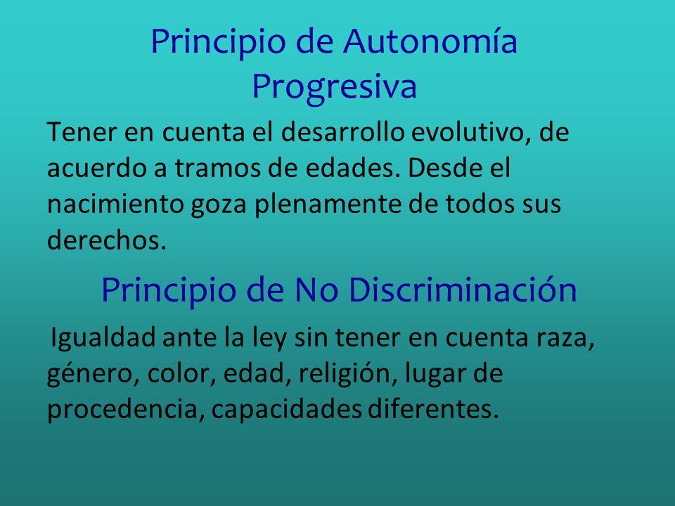 Principio de Autonomía Progresiva